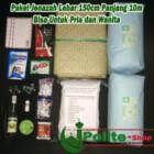 Paket kain komplit kafan Lebar 150cm untuk jenazah pria dan wanita